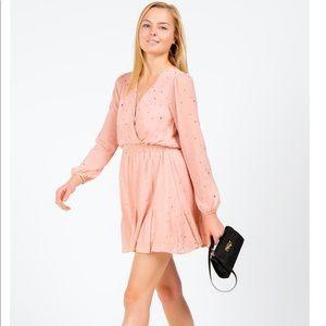Pink Dress w/ Gold Stars (Francescas)